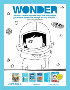 wonder coloring pages Wonder Movie Activity Sheets   Help Kids Spread Kindness! wonder coloring pages