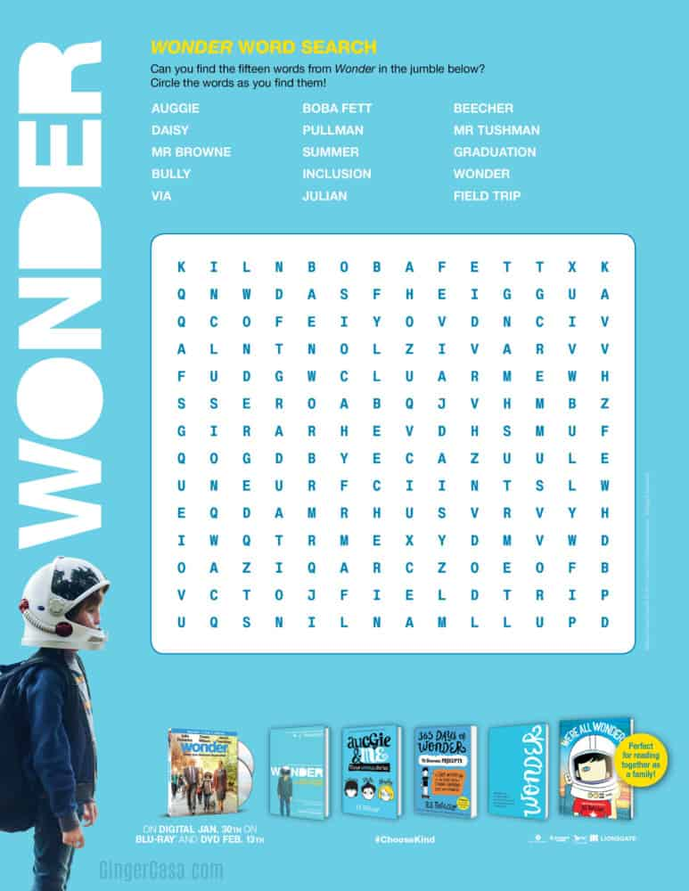 Wonder Word Search