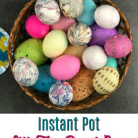 Instant Pot Silk Tie Dyed Easter Eggs