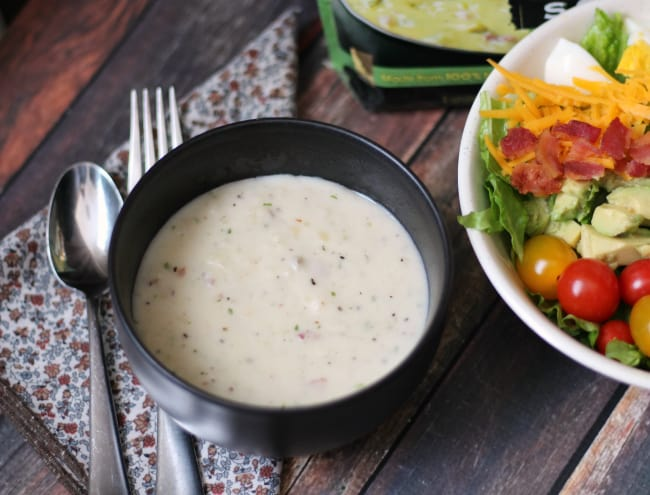 soup and cobb salad
