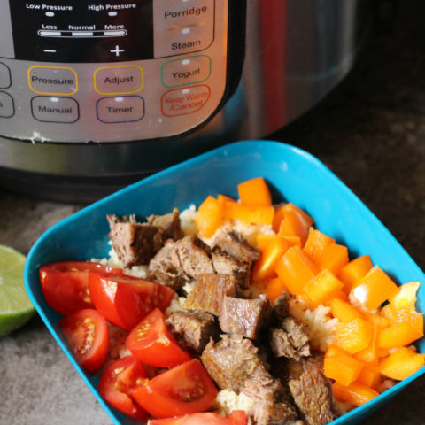 Instant Pot Steak Rice Bowls