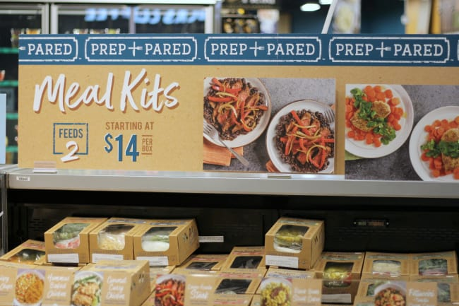 prep and pared meal kits