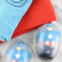 Avengers Captain America DIY: Melt and Pour Soap