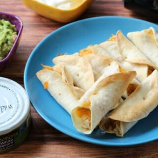 Air Fryer Cheesy Tuna Flautas