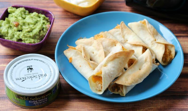 Cheesy Tuna Air Fryer Flautas – Perfect for Cinco de Mayo!