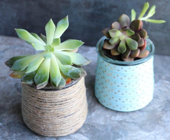 DIY Succulent Planters – Another Way to Repurpose Glass Yogurt Jars!