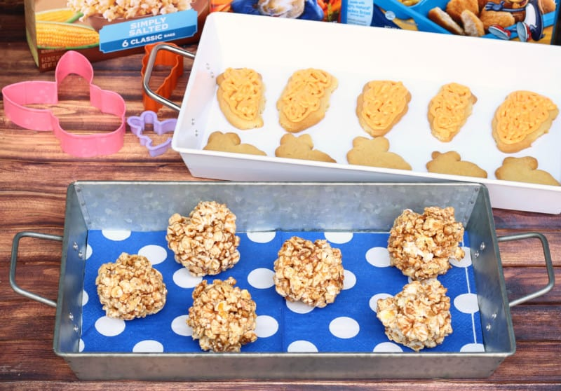 peanut butter honey popcorn balls