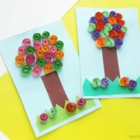 Quilled Tree Craft For Kids