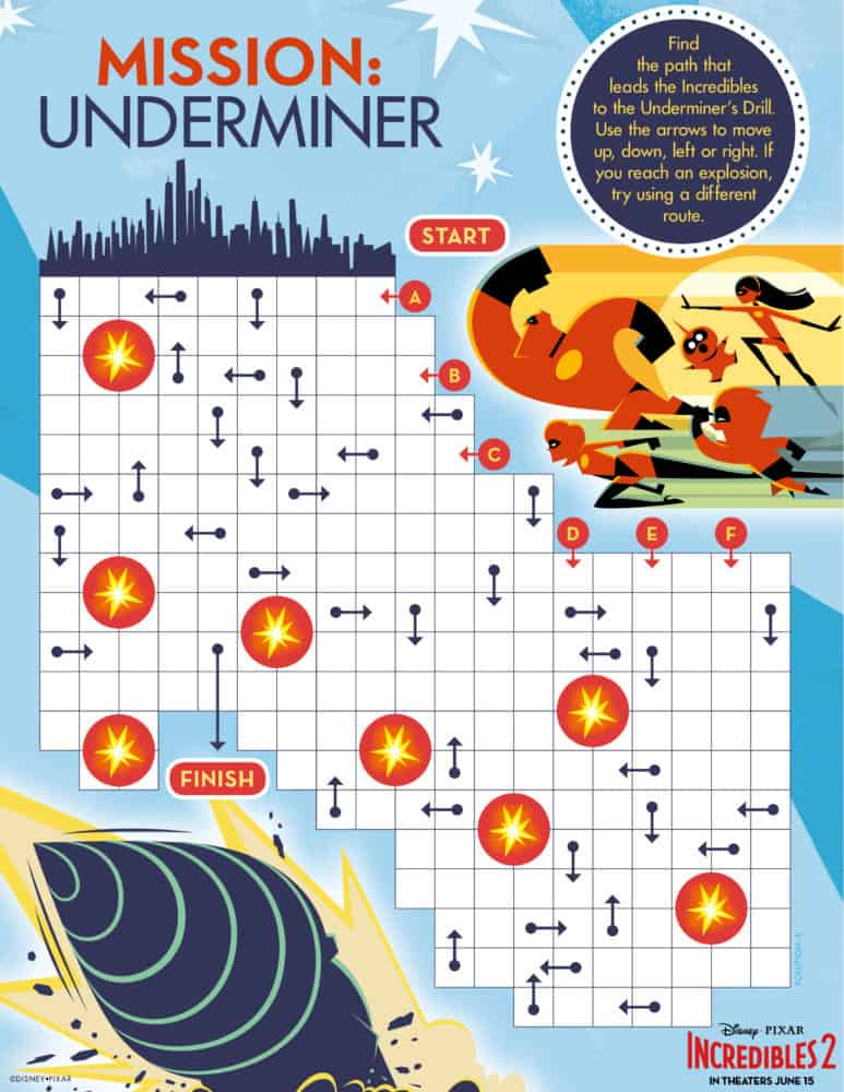 incredibles 2 mission underminer printable