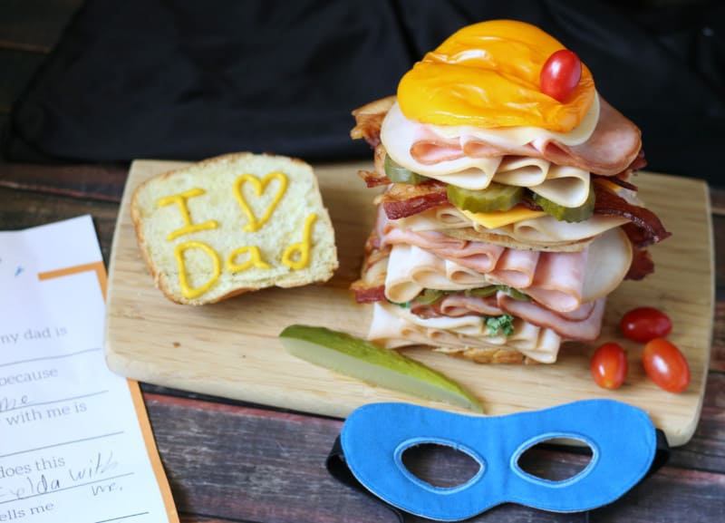 super hero sandwich