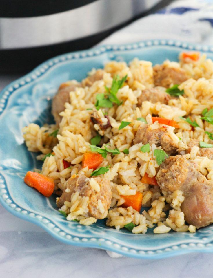 Instant Pot Cajun Rice & Sausage