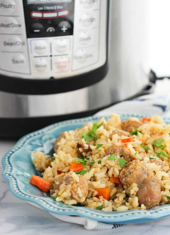 instant pot cajun rice and sausage