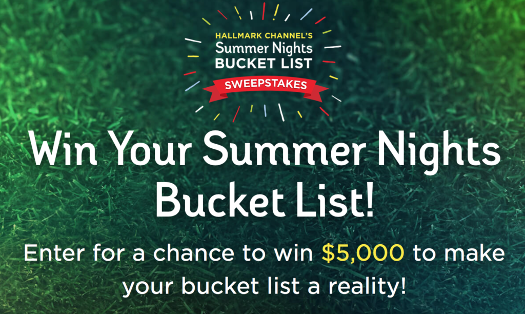 summer of love summer nights bucket list sweepstakes hallmark channel