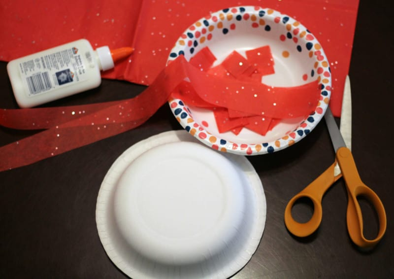 tissue paper apple craft for kids
