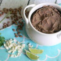 Instant Pot Refried Beans - No Soak Pressure Cooker Pinto Beans