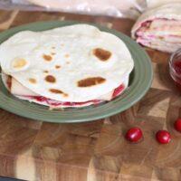 Turkey Cranberry Quesadillas with Cranberry Salsa