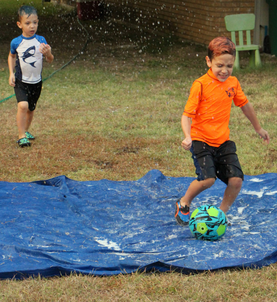 Awesome Ideas to do with the Kids on Your Family Camping Trip water soccer ball goliath