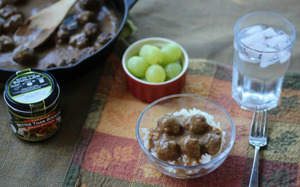 Meatballs and Gravy over Rice – An Easy Recipe the Whole Family will LOVE