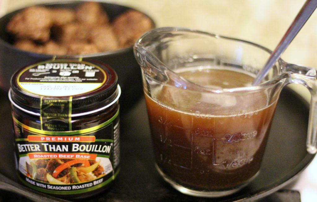 meatballs and gravy over rice better than bouillon