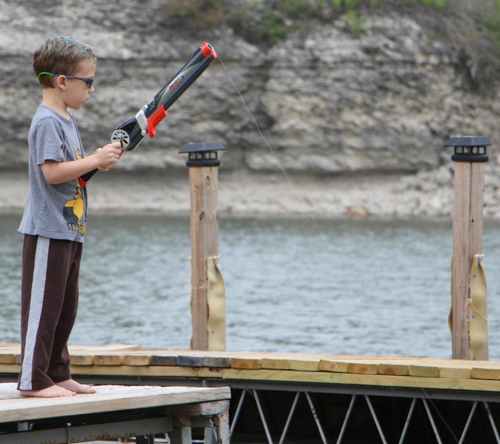 rocket fishing rod kids