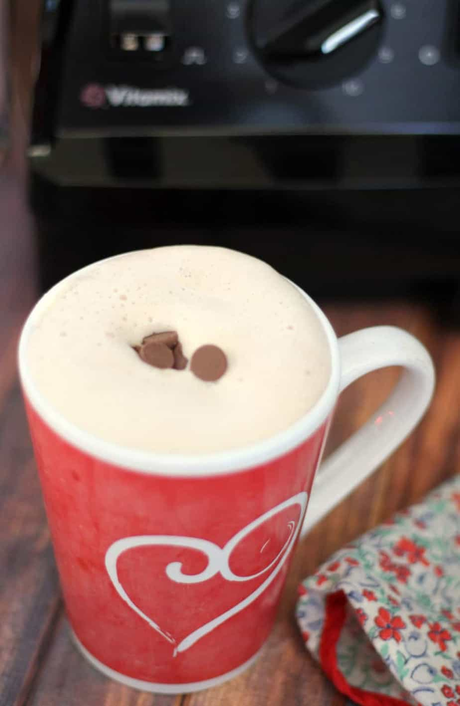 vitamix aer hot chocolate whipped cream