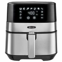 BELLA (14734) 5.3 Quart Touchscreen Air Convection Fryer, Black