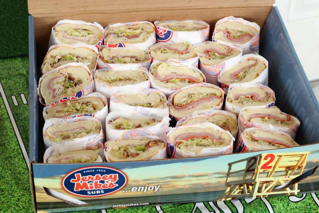 jersey mikes subs catering box big game party food