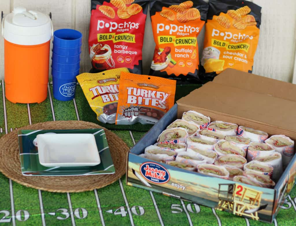 babble boxx jersey mikes catering box football game food