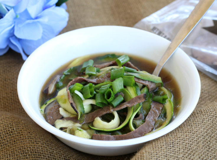 Roast Beef Zoodle Soup