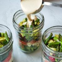 Whole 30 Approved Cashew Aoli Mason Jar Salad