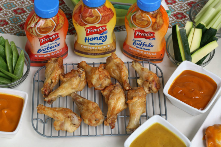 Air Fryer Chicken Wings with Dipping Sauces