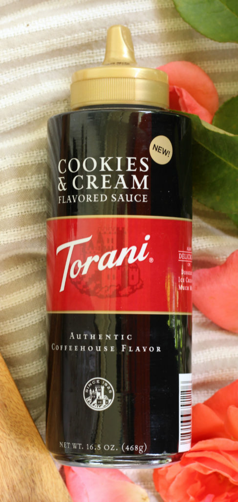 torani cookies and cream flavored sauce