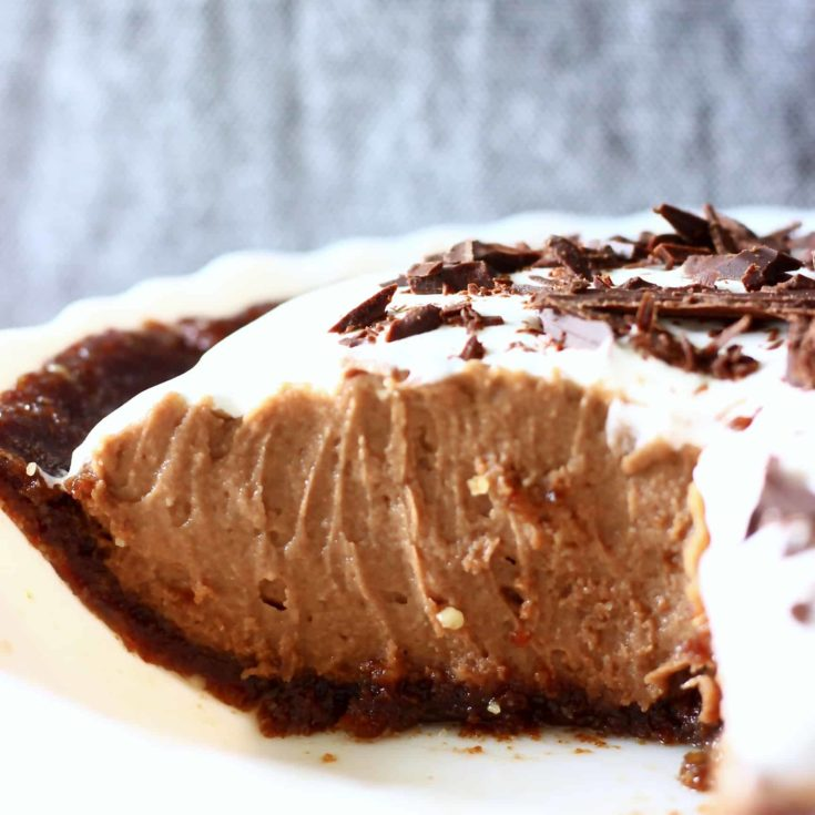 Vegan Chocolate Silk Pie (Gluten-Free)