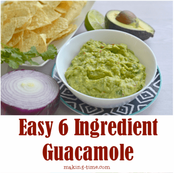 Easy 6 Ingredient Guacamole