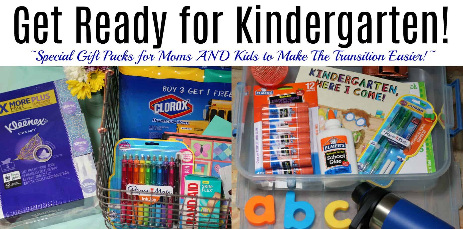 get ready for kindergarten gift packs