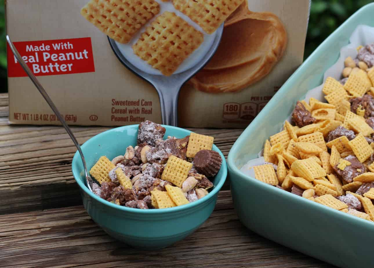 loaded peanut butter chex party mix