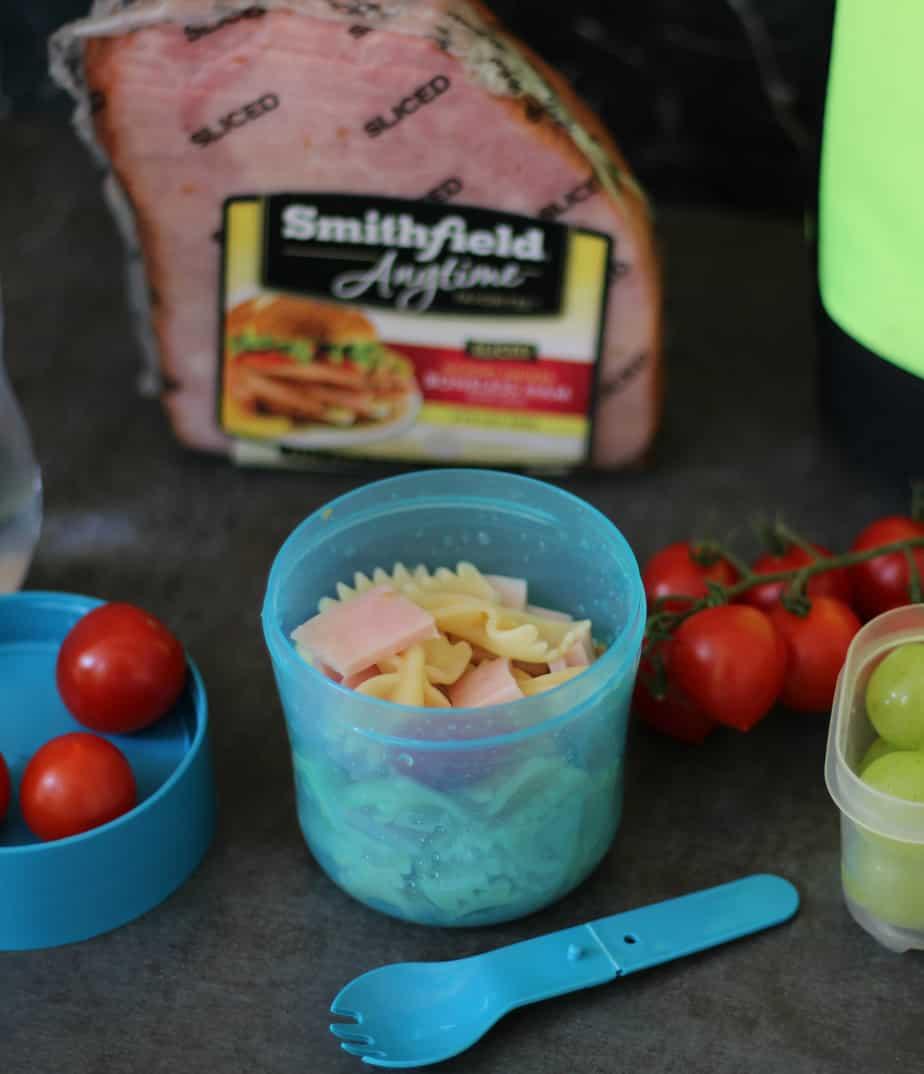 easy ham bowtie pasta