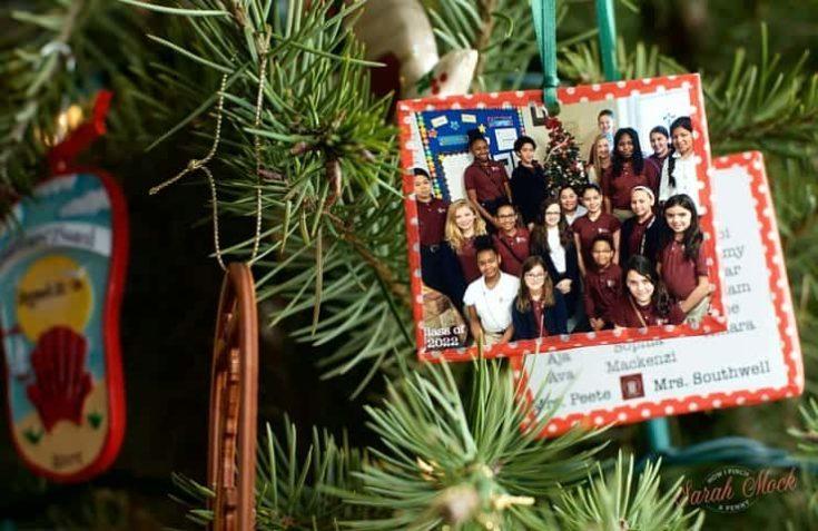 DIY Classroom Photo Christmas Ornament