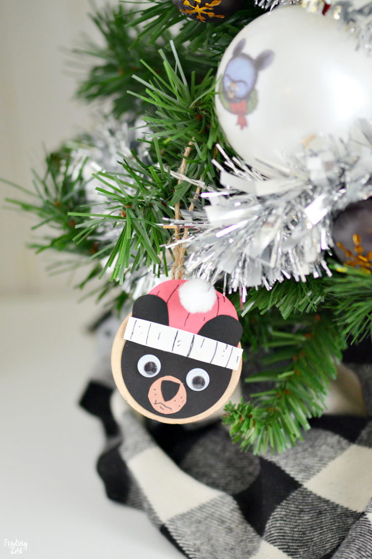 Black Bear Ornament Craft Inspired by Santa Bruce