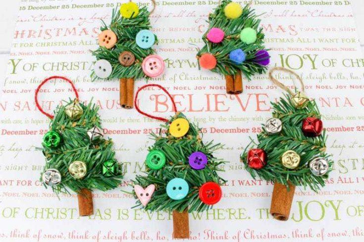 DIY Cinnamon Stick Christmas Tree Ornament Craft
