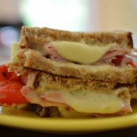 Ham Roasted Red Pepper Grilled Cheese
