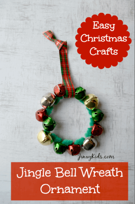 Jingle Bell Wreath Ornament - Easy Craft Activity