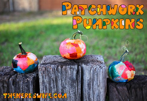Patchwork Pumpkins Fall Toddler Craft