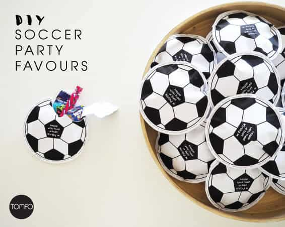 DIY Soccer Party Favours and a free printable