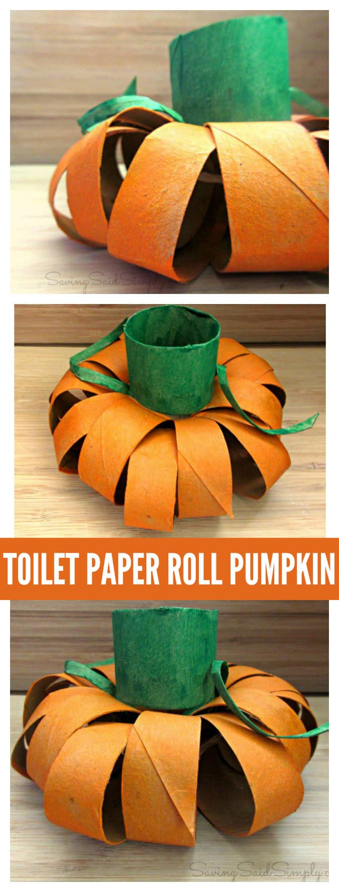 Toilet Paper Roll Pumpkin