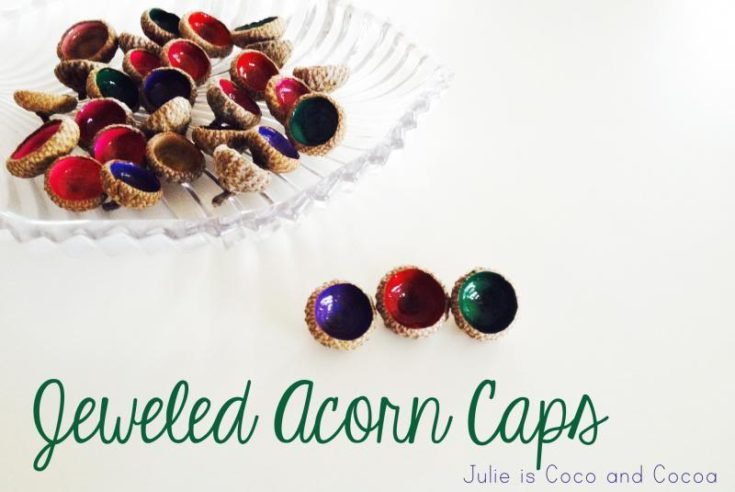 Jeweled Acorn Caps