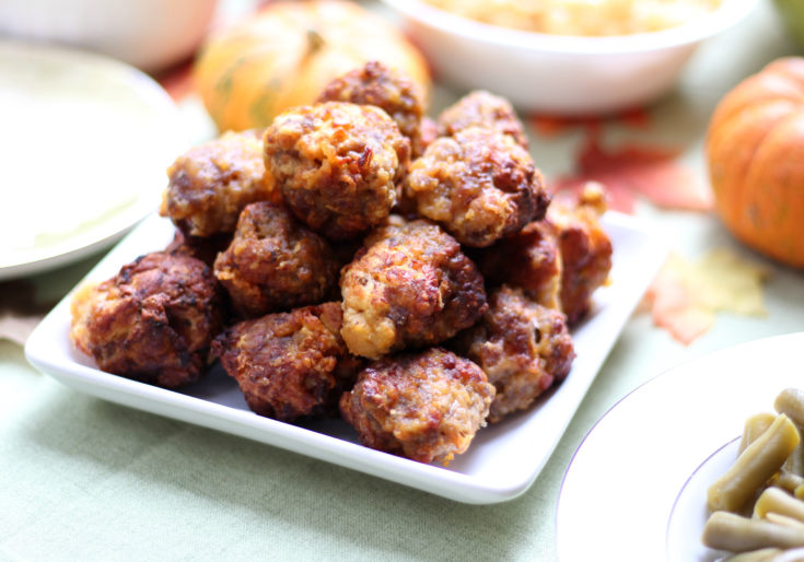 Air Fryer Sausage Balls for Friendsgiving!