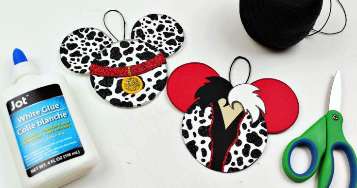 Free Printable 101 Dalmatians and Cruella Ornament Craft