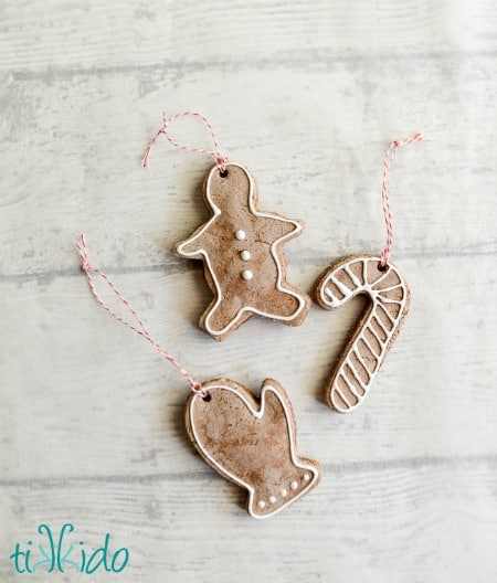Gingerbread Salt Dough Ornament Recipe and Tutorial