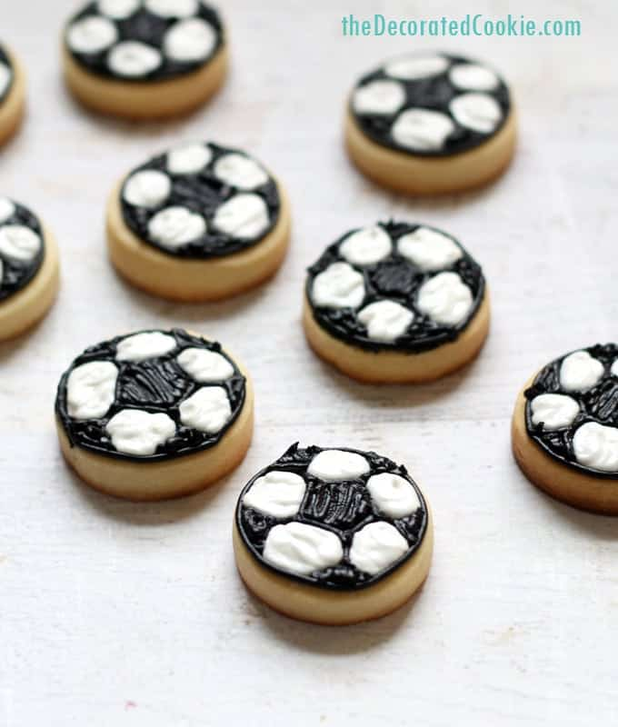 Mini Soccer Ball Cookies